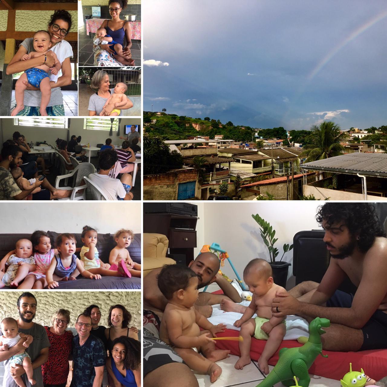 Fotocollage van onze momenten in Rio de Janero na onze terugreis uit Nederland